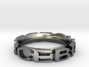 Stag beetle bionic ring - bracelet in Polished Silver