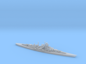 German Bismarck-Class Battleship in Smooth Fine Detail Plastic