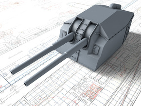 "1/100 DKM 15cm/48 (5.9"") Tbts KC/36T Gun x1 in Smooth Fine Detail Plastic"