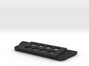 3rd gen Tacoma switch plate, eight holes in Black Natural Versatile Plastic