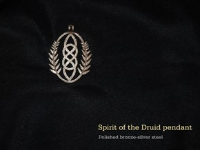Spirit of the Druid Pendant in Polished Bronzed-Silver Steel