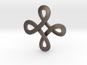 Loops Viking Pendant in Polished Bronzed-Silver Steel