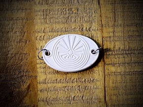 Radial Labyrinth Aromatherapy Convertible Pendant in Natural Sandstone