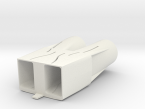 B-1B Engine Intakes in White Natural Versatile Plastic