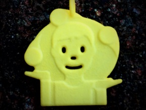 Juggler Emoji Pendant in Yellow Processed Versatile Plastic