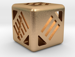 D6 12mm - Tally Marks in Natural Bronze