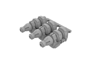 Miniature scale - Frost Cannon (3pc) in Smoothest Fine Detail Plastic