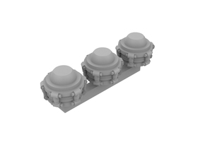 Miniature scale - Torso extension unit (3pc) in Smoothest Fine Detail Plastic