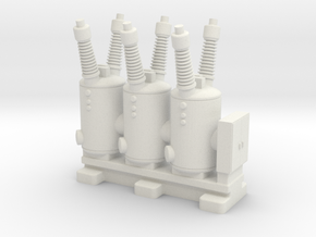 Electrical Substation Circuit Breaker in White Natural Versatile Plastic: 1:220 - Z