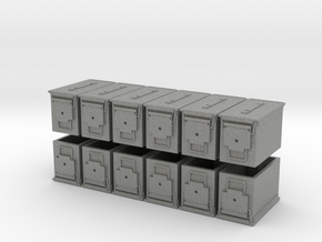 """1:18 Scale Ammo Can (PA-108 """"Fat .50"""") in Gray PA12"""
