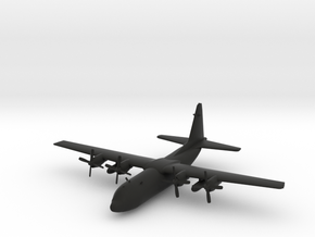 Lockheed C-130 Hercules in Black Natural Versatile Plastic