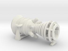 15MW Gas Turbine in White Natural Versatile Plastic: 1:160 - N