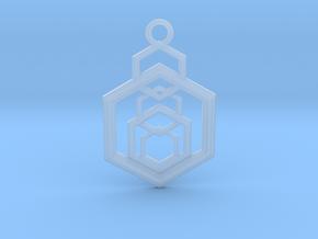 Geometrical pendant no.9 in Smooth Fine Detail Plastic: Medium