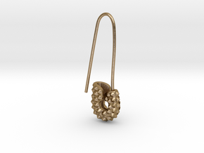 Spike Safety Pin in Polished Gold Steel