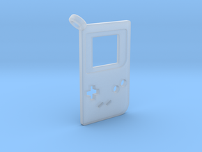 Gameboy Classic Styled Pendant in Smooth Fine Detail Plastic