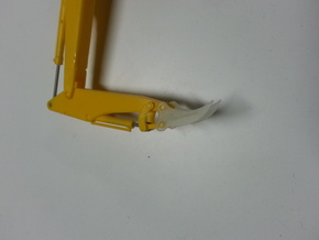 HO 1:87 excavator root Rhino attachment in Smooth Fine Detail Plastic