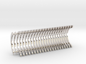 Heat Sink Fins (full) for PP Starkiller in Rhodium Plated Brass