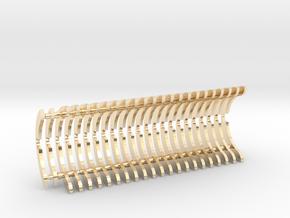 Heat Sink Fins (full) for PP Starkiller in 14k Gold Plated Brass