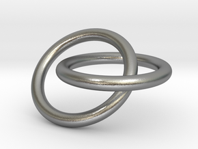 Interlocking Rings Pendant in Natural Silver (Interlocking Parts)