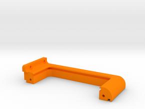 XL - Strebe Netzteil links in Orange Processed Versatile Plastic