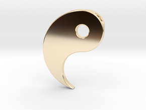 Yin Yang Pendant - Part 1 in 14k Gold Plated Brass