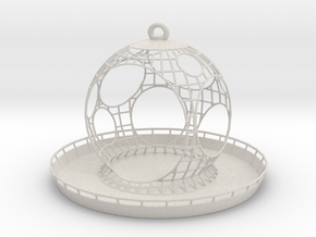 Birdfeeder in Matte Full Color Sandstone