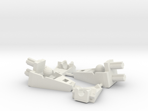 Chibi Beast Mouth (Set of two) in White Natural Versatile Plastic