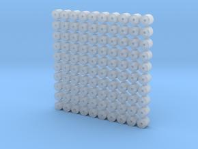 Set of 100 - Redline Wheel Bearings in Smooth Fine Detail Plastic