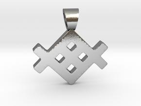 Metenu [pendant] in Polished Silver