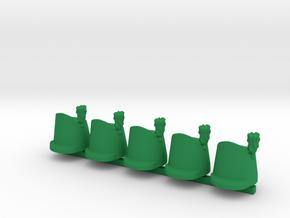 5 x British Shako Wellington  in Green Processed Versatile Plastic