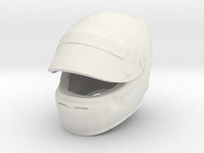 Helmet F1 1/8 open visor in White Natural Versatile Plastic