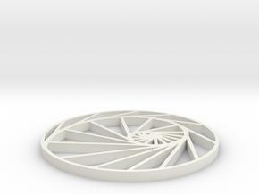 logarithmic spiral pendant in White Premium Versatile Plastic