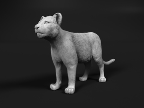 Lion 1:48 Standing Cub in Smooth Fine Detail Plastic