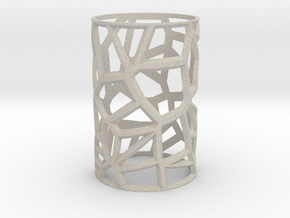 Voronoi Votive Shell  in Natural Sandstone: Small