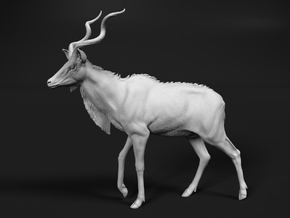 Greater Kudu 1:22 Walking Male in White Natural Versatile Plastic