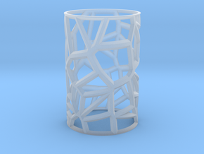 Voronoi Votive Shell  in Smooth Fine Detail Plastic: Small