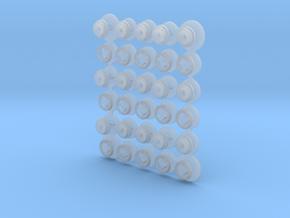 1/35 LVTP-5 Road Wheels MSP35-091 in Smooth Fine Detail Plastic