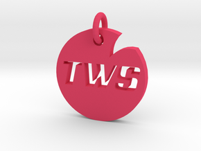 Wreck it Sideways - Pendant / Keychain in Pink Processed Versatile Plastic