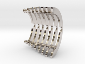 Heat Sink Fins (partial) for PP Starkiller in Rhodium Plated Brass