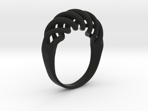 Twist Ring in Black Natural Versatile Plastic
