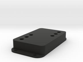 Strat PU Cover, Double Wide, WR-SQ in Black Natural Versatile Plastic