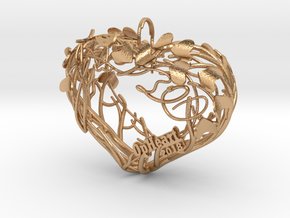 Heart Branches - Ornament in Natural Bronze: Small