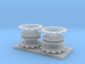 M26 Pershing Sprocket and Hub Set in Smooth Fine Detail Plastic