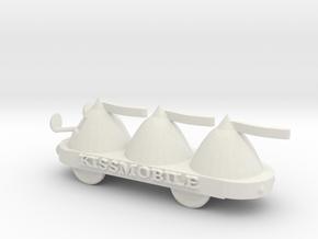 HO Scale KissMobile in White Natural Versatile Plastic