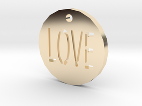 Love Pendant in 14K Yellow Gold