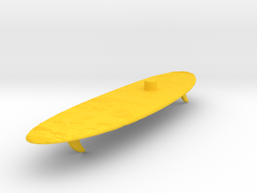 Time Traveler Circuit-Board Stand in Yellow Processed Versatile Plastic