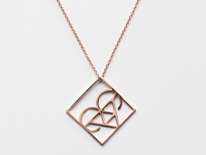 Aries in 14k Rose Gold Plated Brass