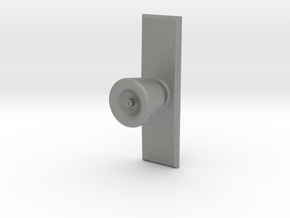 Door Knob with backing plate in 1:6 scale in Gray PA12