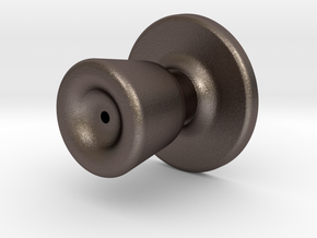Door knob in 1:6 scale in Polished Bronzed-Silver Steel