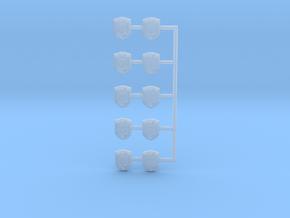 Miniature Badges in Smoothest Fine Detail Plastic